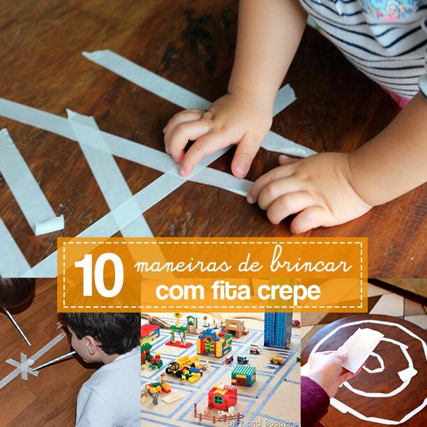 10 maneiras de brincar com fita crepe
