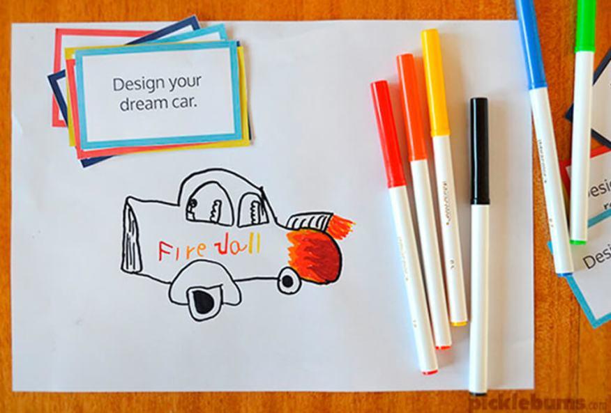 Brincar de desenhar - desafio do desenho