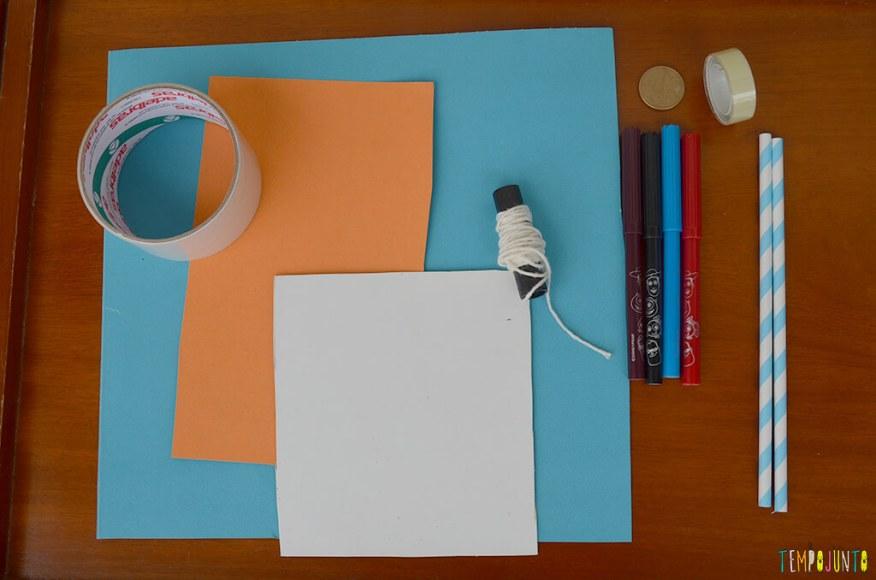 Um brinquedo caseiro super divertido feito com papelão e barbante - materiais