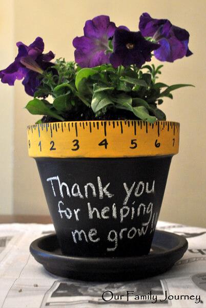 10 sugestões de presentes caseiros para o Dia dos Professores - vaso de flores