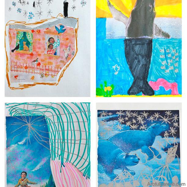 10 ideias de artes para fazer com crianças - complete o desenho