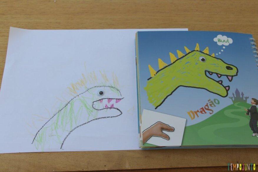 Como fazer desenho com as mãos - comparação dos desenhos