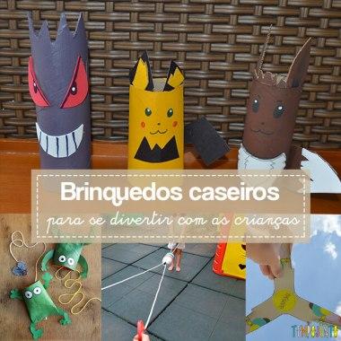 12 Brinquedos caseiros para crianças entre 4 e 7 anos simples e divertidos