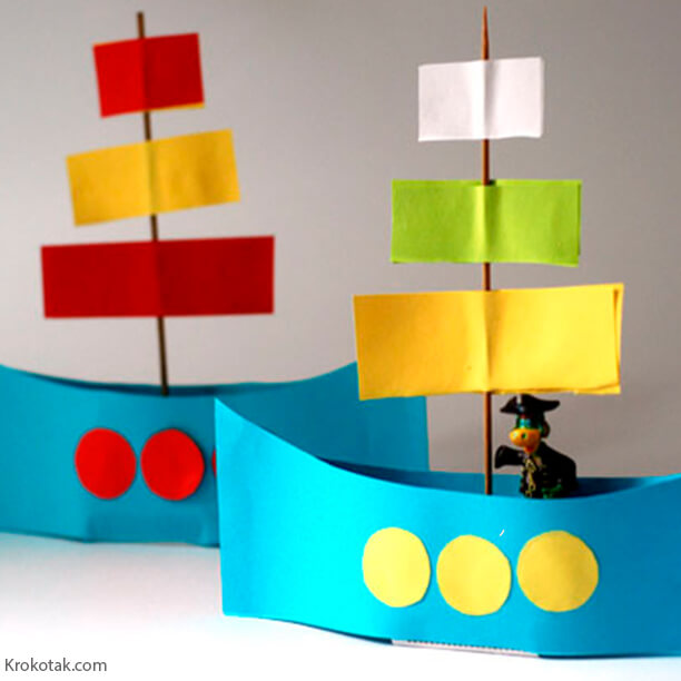 10 brinquedos caseiros - barquinho de papel