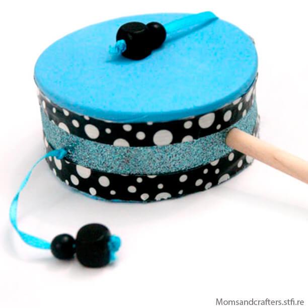 10 ideias de brinquedos caseiros faceis de fazer - tambor