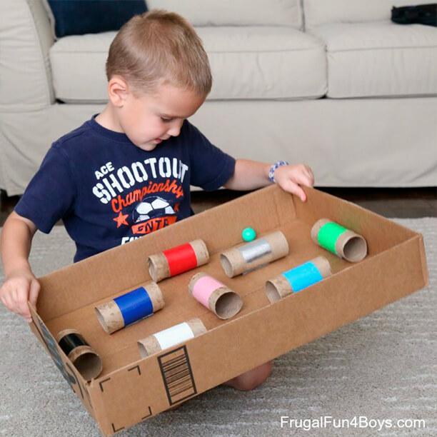 10 maneiras de fazer labirintos - labirinto rolo de papel
