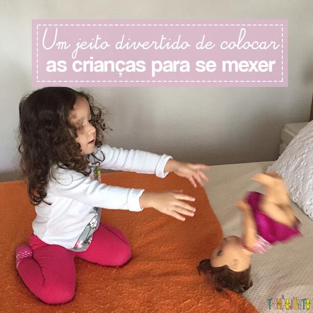 Aula de movimento para os brinquedos