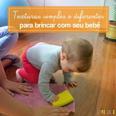 Brincadeira sensorial e de descoberta do bebê com material de cozinha