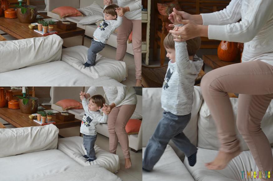 Porque almofadas são brinquedos ideais para você se divertir com seu bebê - sequencia mari e pietro 1