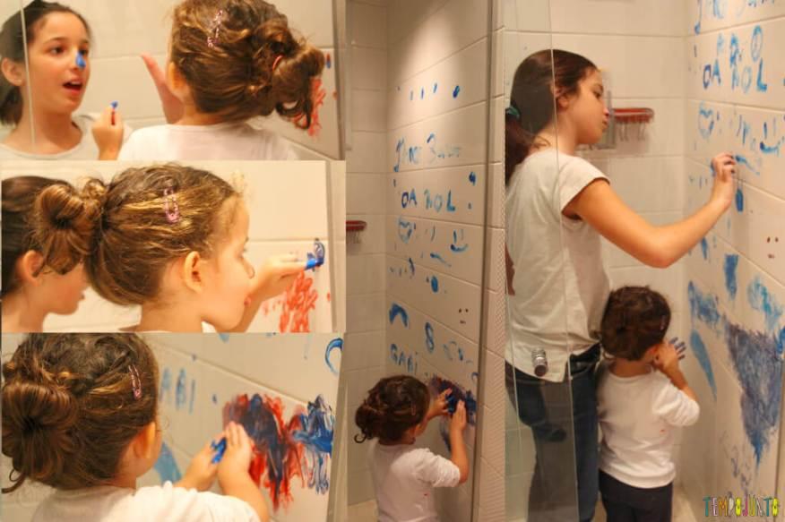 Pintura com o nariz um jeito diferente de pintar - carol e gabi pintando juntas 2