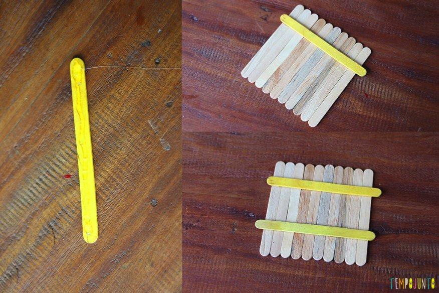 Um presente simples e criativo para o Dia dos Pais - palitos colados