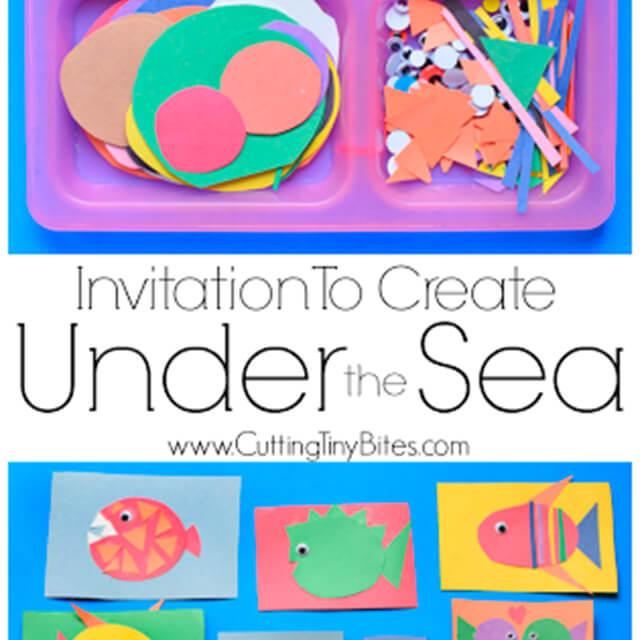 10 ideias criativas para brincar de fundo do mar - invitation to create