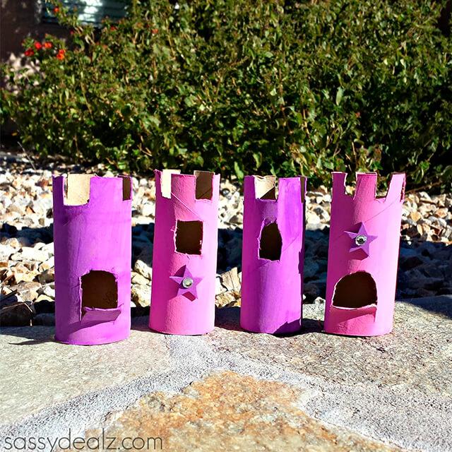 10 maneiras diferentes de criar um castelo para as crianças - castelo de rolo de papel