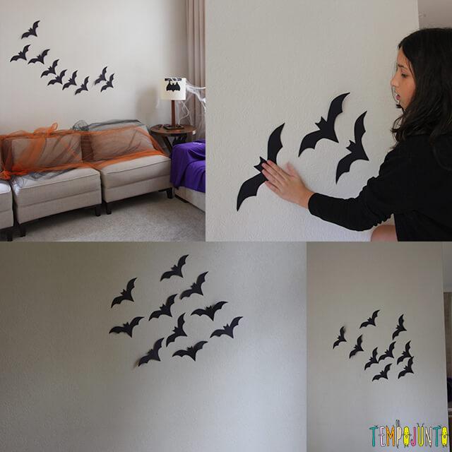 Como decorar uma festa de Halloween - parte 2 - morcegos na parede