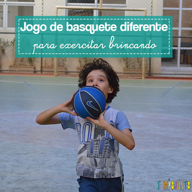 Jogo de basquete diferente para exercitar brincando