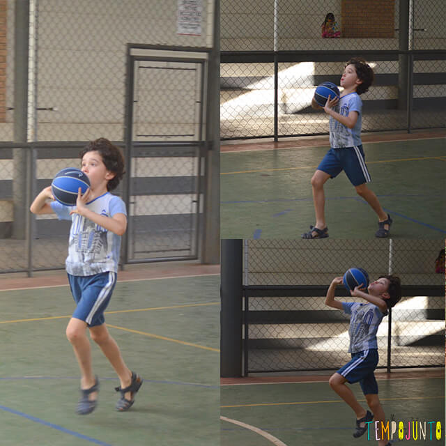 Jogo de basquete diferente para exercitar brincando - pocoyo correndo e pulando