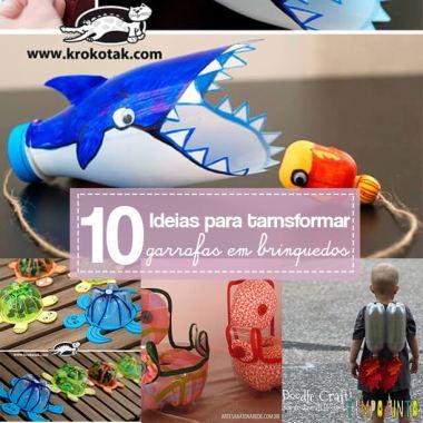 Mais 10 brinquedos para fazer com garrafa pet