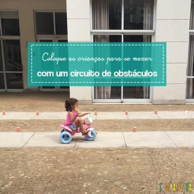 Circuito de obstáculos para crianças