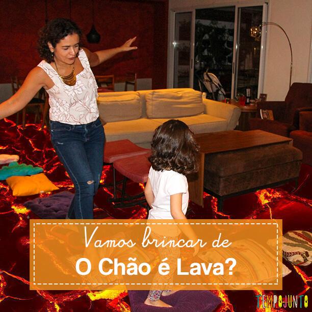 Chão é lava: uma aventura deliciosa para as crianças