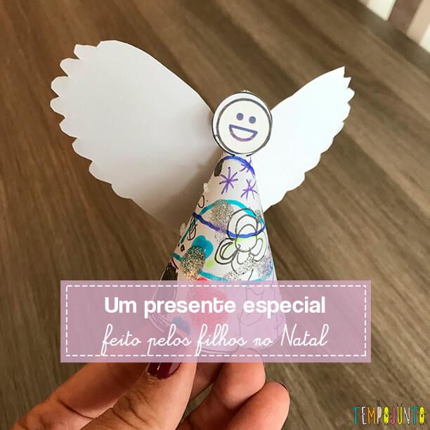 Lembrancinha de Natal feita pelas crianças cheia de carinho angelical
