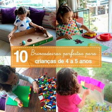 As 10 melhores brincadeiras para crianças de 4 anos