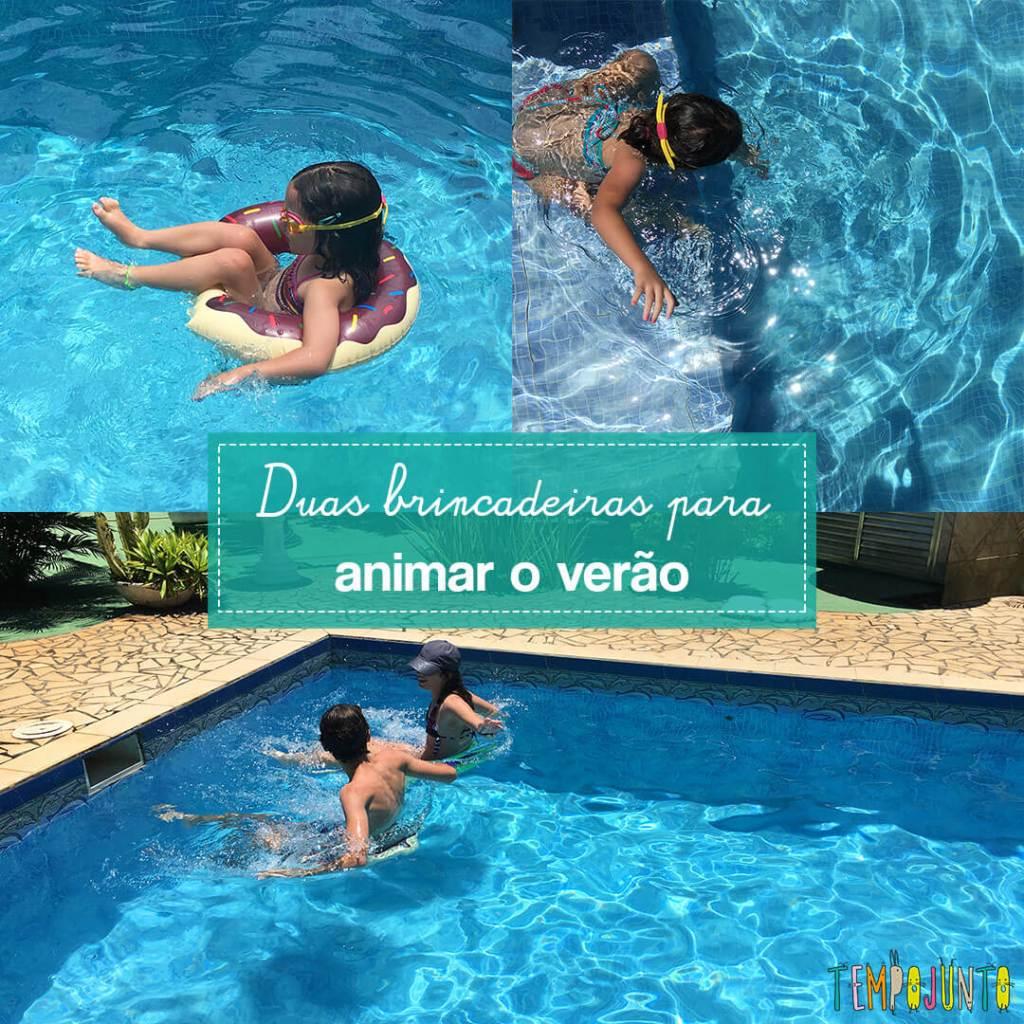 Brincadeiras de piscina para animar o verão