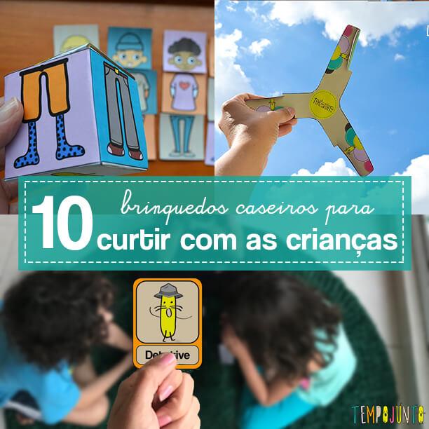 10 brinquedos caseiros, divertidos e baratos