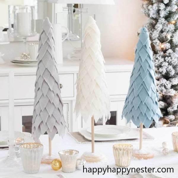 árvore de natal feita com feltro