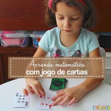 Brincadeiras de matemática para 1o ano: jogo com cartas