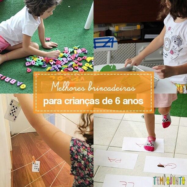 Brincadeiras para crianças de 6 anos: TOP 10!