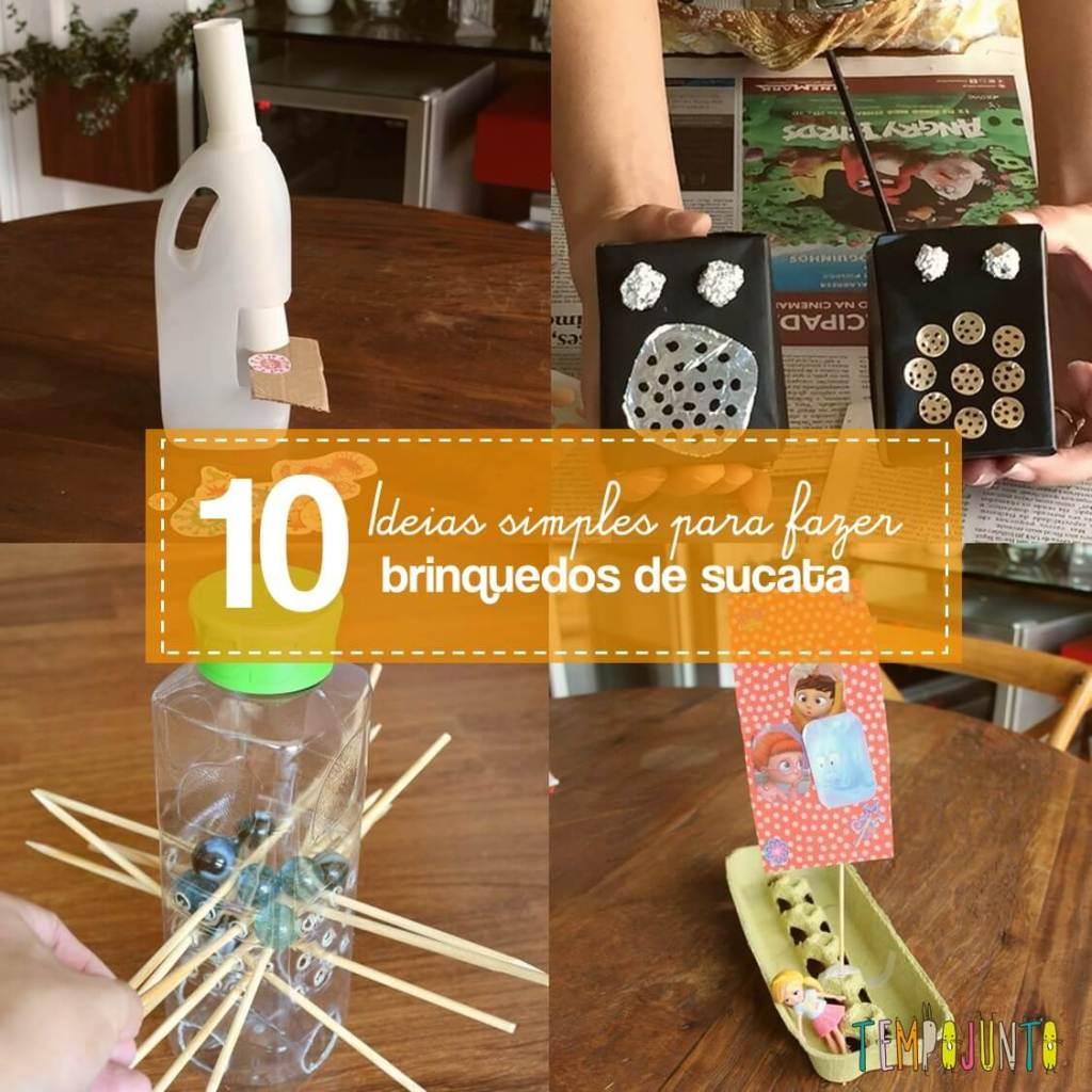 10 brinquedos de sucata fáceis de fazer