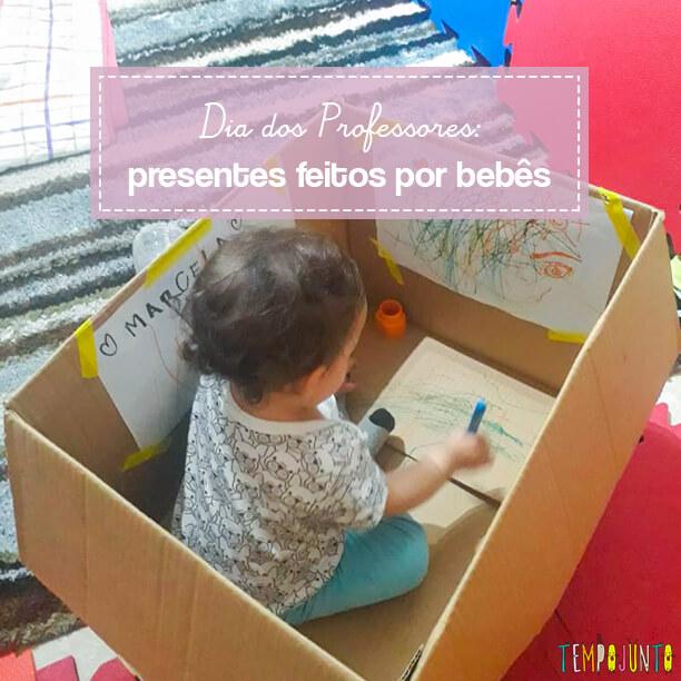 Lembrancinha para os professores feito pelo seu bebê