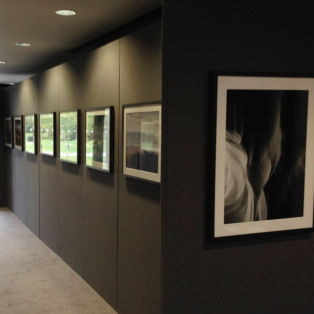 Black Exhibition Wall  Black Temporary Walls from Conex