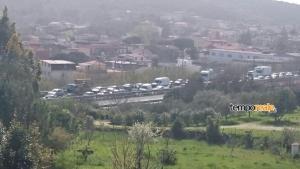 Traffico bloccato sulla superstrada a seguito dell'incidente