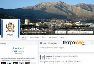 La pagina Facebook del Comune di Formia