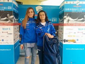 Le spadiste Lucrezia Marandola e Marta Zapparato