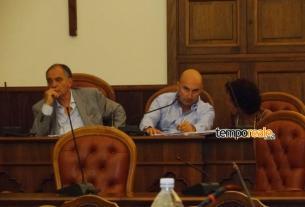 Il sindaco Paolo Graziano, il presidente del consiglio comunale Gianni Izzo, il segretario generale Massimina De Filippis