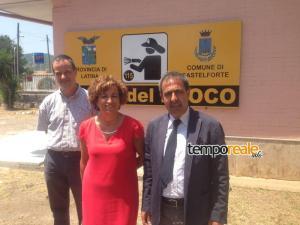 Il Sindaco di Castelforte Patrizia Gaetano con il Comandante Liberati e il suo Vice Comandante Simonetti