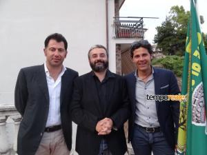 Il sindaco Salvatore Vento con gli ex assessori Raffaele Vento e Marco Vento
