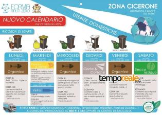 differenziata calendario zona cicerone formia