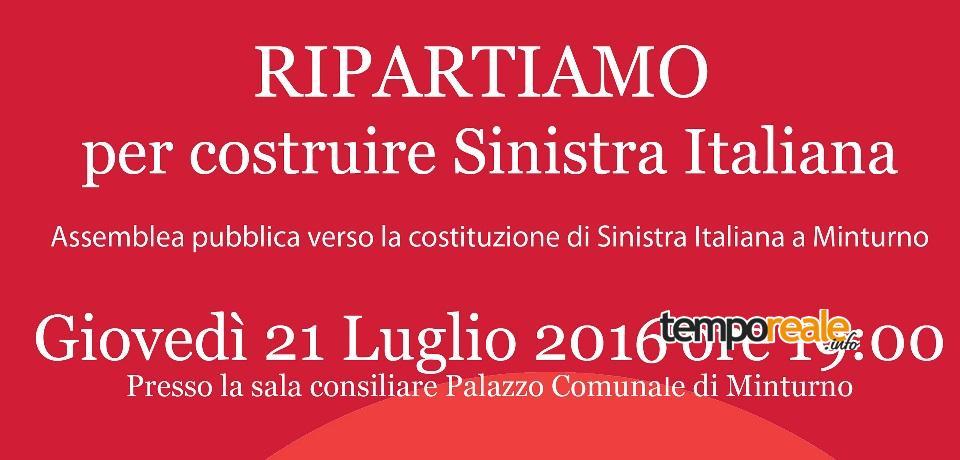 incontro sinistra italiana minturno copertina