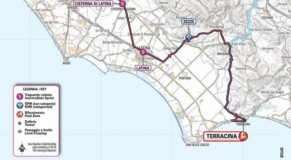 Cartina Roma E Provincia.Giro D Italia Le Tappe Nella Provincia Di Latina E La Mappa Dei Percorsi Alternativi Temporeale Quotidiano