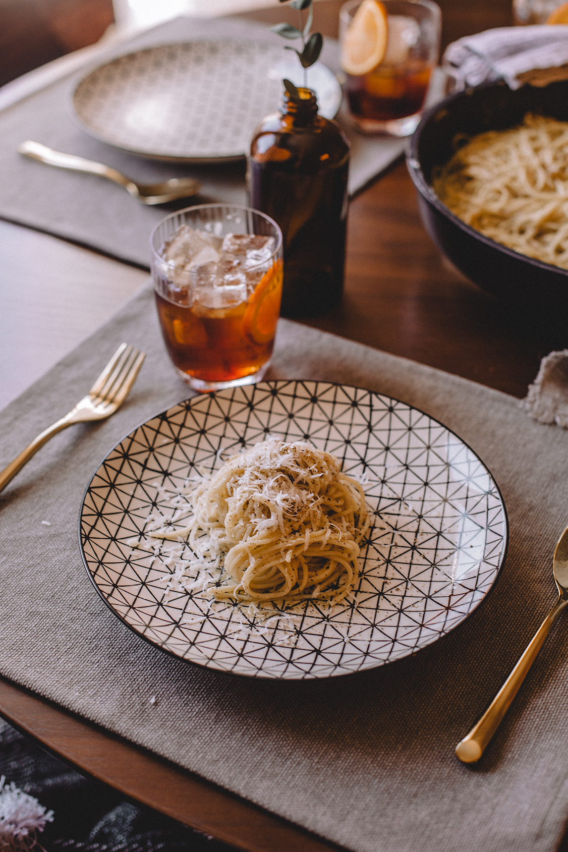 Cheese and pepper Cacio e Pepe delicious recipe