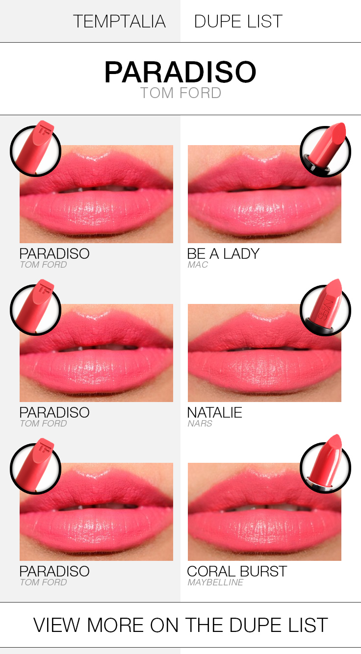 Tom Ford Paradiso Dupes  Comparisons
