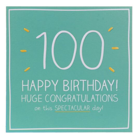 Happy Jackson 100th Birthday Card Temptation Gifts