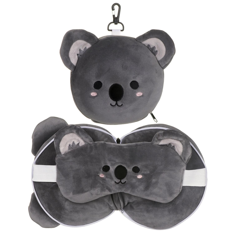 resteazzz cutiemals koala travel pillow eye mask