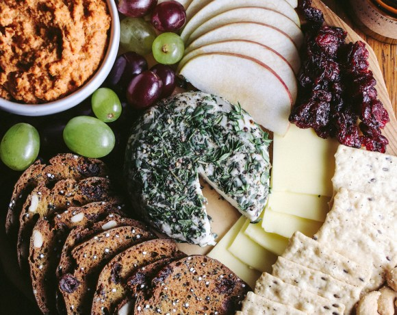 autumn vegan cheese board