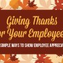 Giving Thanks For Employees 5 Ways To Show Employee