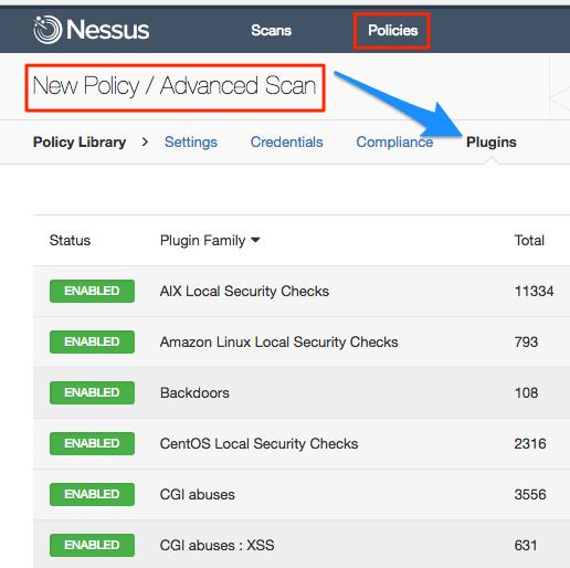 Nessus plugins