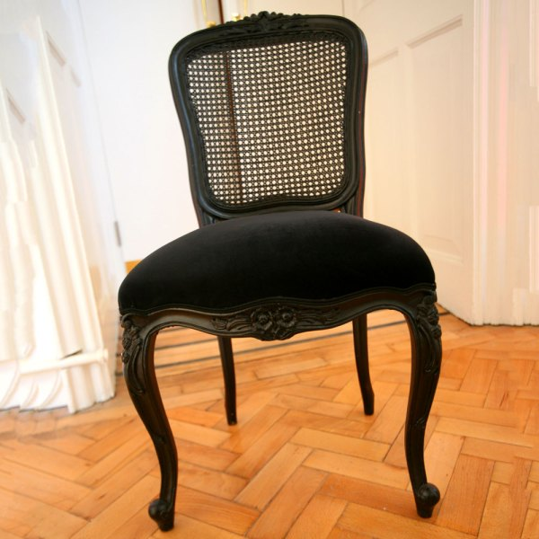 Black and Wicker Chairs